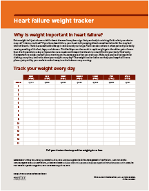 Heart failure weight tracker